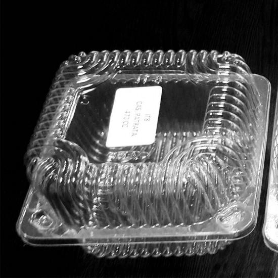 Caserole transparente patrate 580ml