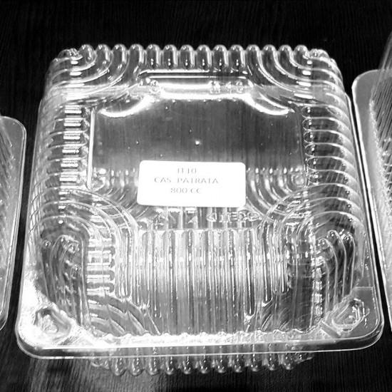 Caserole transparente patrate 800ml
