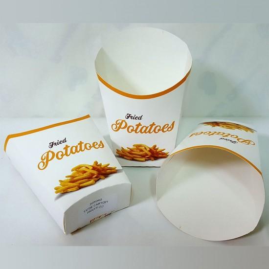 Cutie carton cartofi mare - 100buc/pachet