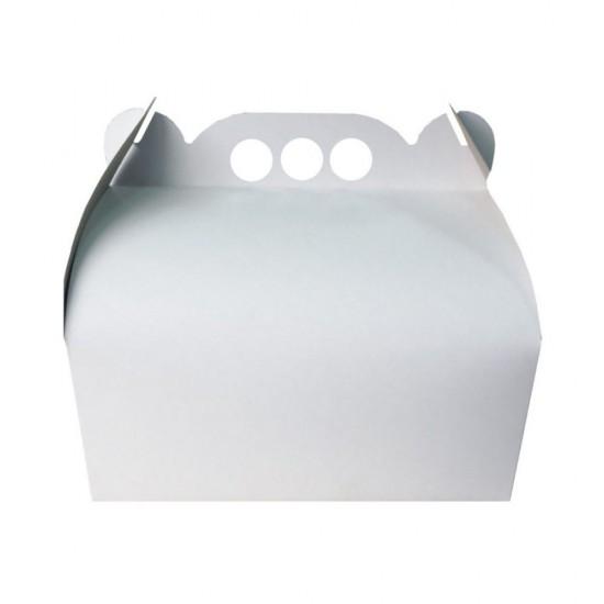 Cutie tort 25x25cm albe