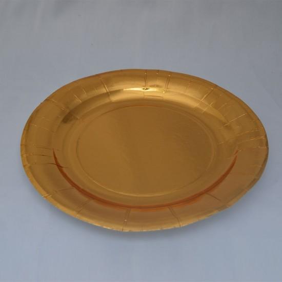 Farfurii aurii 17cm
