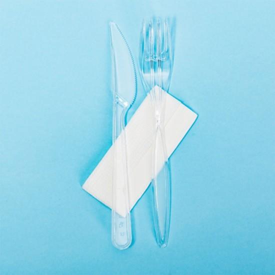 Set tacamuri catering BIS (F+C+S) transparente