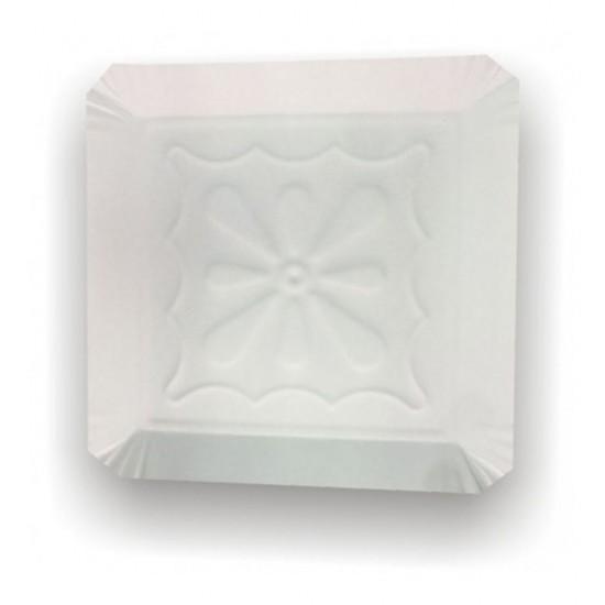 Tavite carton tip 11 albe 25x25cm
